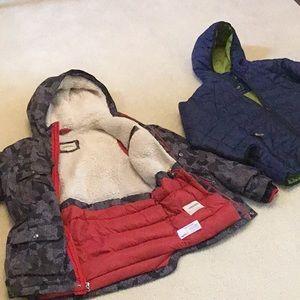 Lot of 2 big boys jackets size M. Land's end & Gap